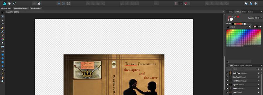 Book cover in Affinity Designer