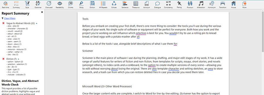 ProWritingAid grammar tool